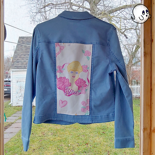 Barbie Reworked Denim Jacket - Womens Medium