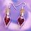 Thumbnail: Red Hearts Love Potion Dangle Earring