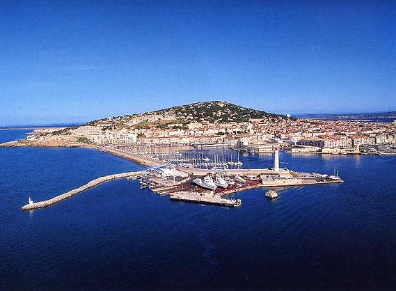 Vue aérienne de Sète