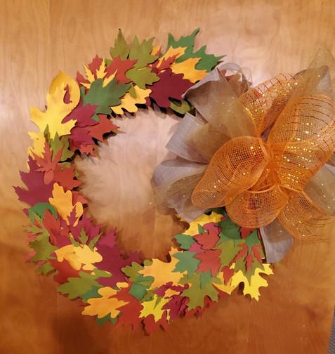 The Paper Fall Leaf Wreath