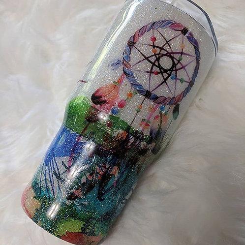 Paint Splatter Dream Catcher Cup