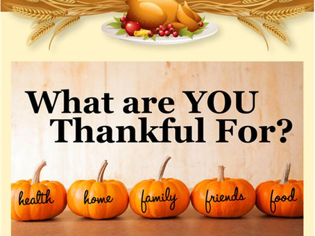 15 thoughts of Thankfulness and Gratitude