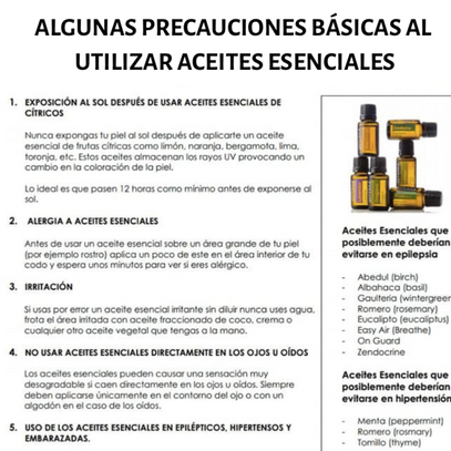 Precauciones y Recetas Básicas