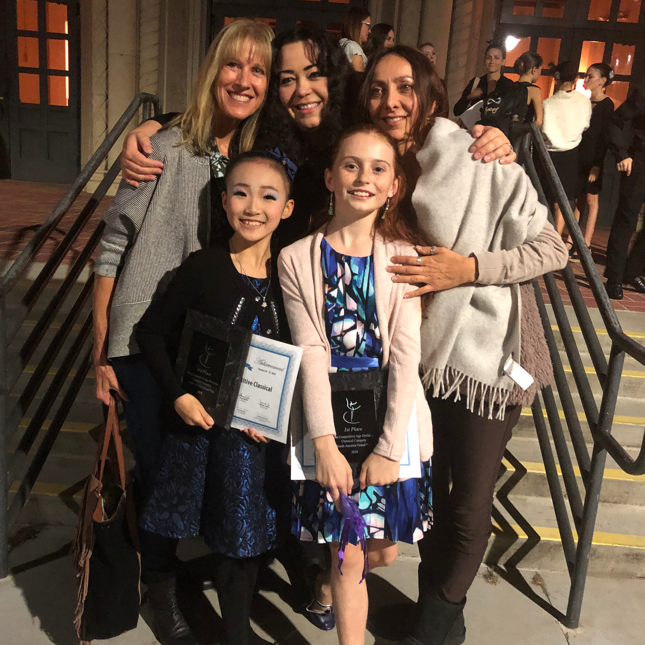 Ms Tita, Ms Vera, Ms Hasmik and top prize winners Mai and Samantha.