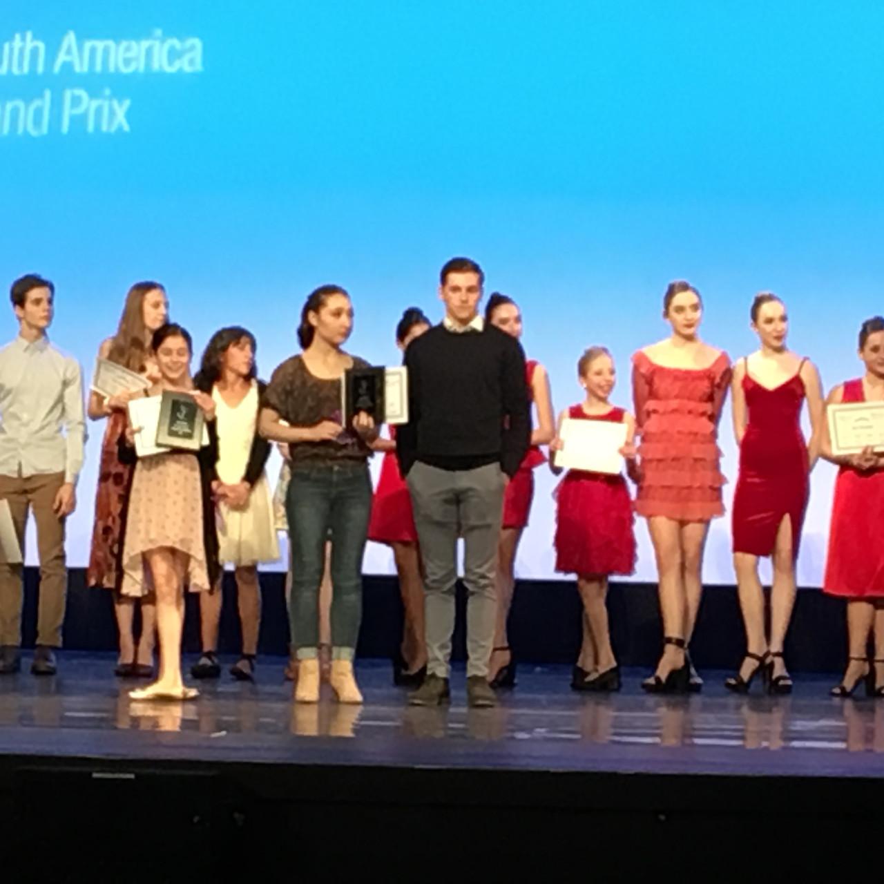 Emma and Brent receive third place for Coppelia Pas de Deux.