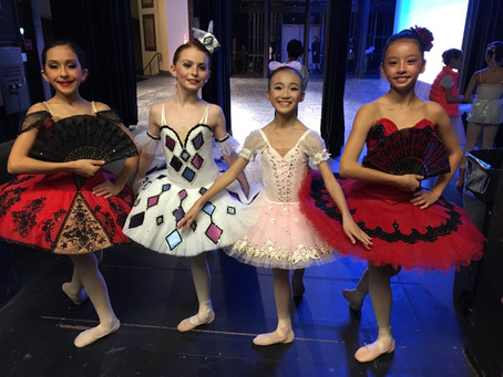 Little ballerinas prepare pre-competitive classical
