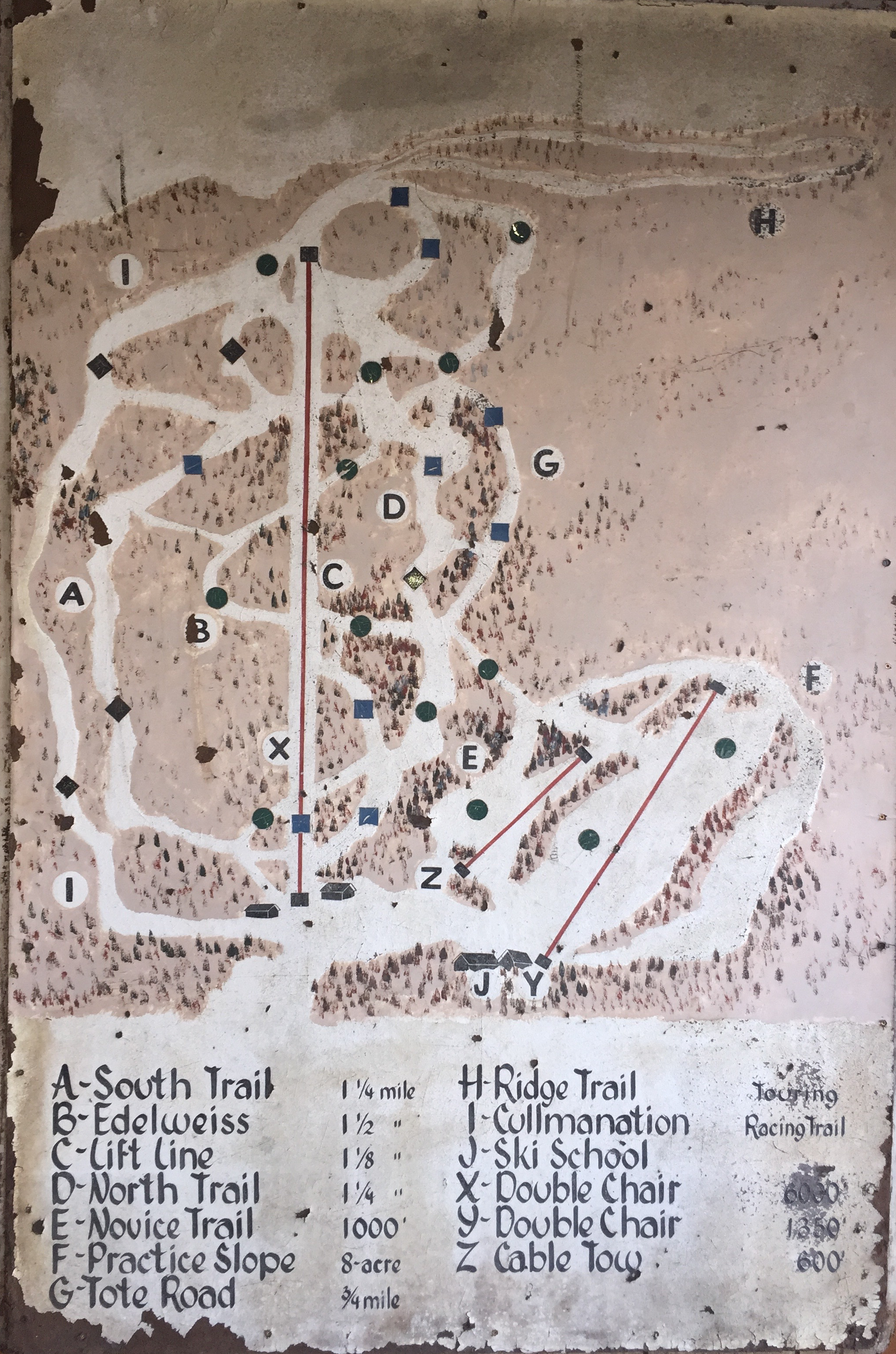 The first TENNEY trail map (Fortunately, we've grown over the years!)