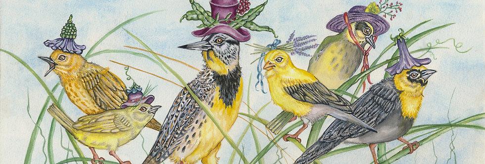 Yellow Bird Hats