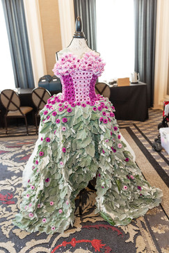 Sir Francis Drake Hotel - Flower Power Event - Botanical Ball Gown to be worn by spokesmodel