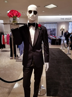 James Bond Diamond Event at Saks Fifth Avenue - Serving Hand-tied Bouquets and Boutinierres