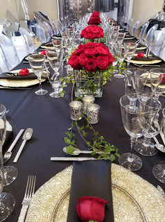 James Bond Diamond Event at Saks Fifth Avenue - Banquet Hand-tied Bouquets and Boutinierres