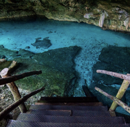 Photo of Dos Ojos Cenote from Instagram via @hopereid