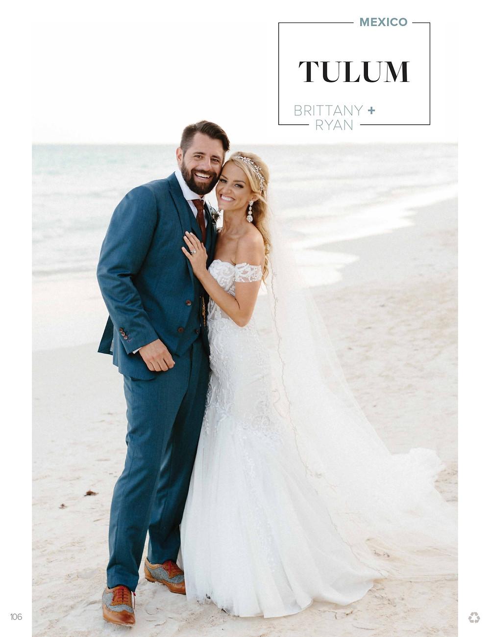 Bride and Groom, Brittany and Ryan, Zorba & Mahayana private beachfront Tulum Mexico.