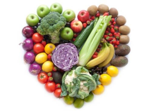 Heartshape fruits and vegetables