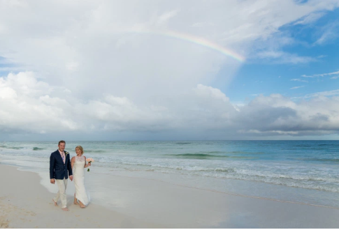 Over the rainbow Tulum Wedding at Mahayana Tulum Beach Homes