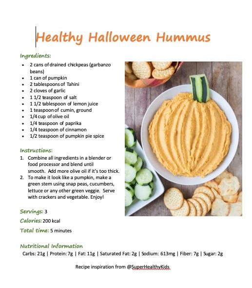 Halloween Hummus Receipe
