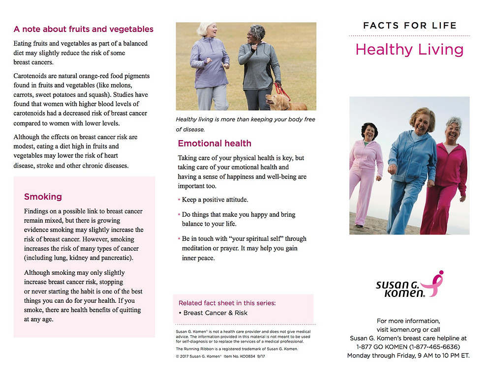 Breast Cancer Awareness-Healthy Living Tri-Fold_09-2015 FINAL