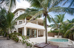 View from outside Zorba Tulum private rental villas.
