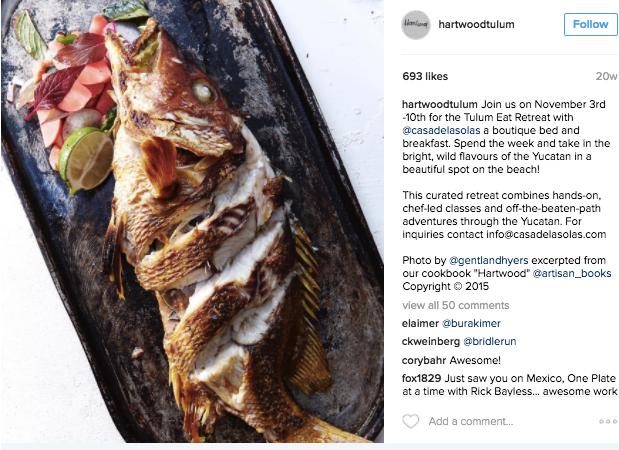 Hartwood cuisine in Tulum, Mexico
