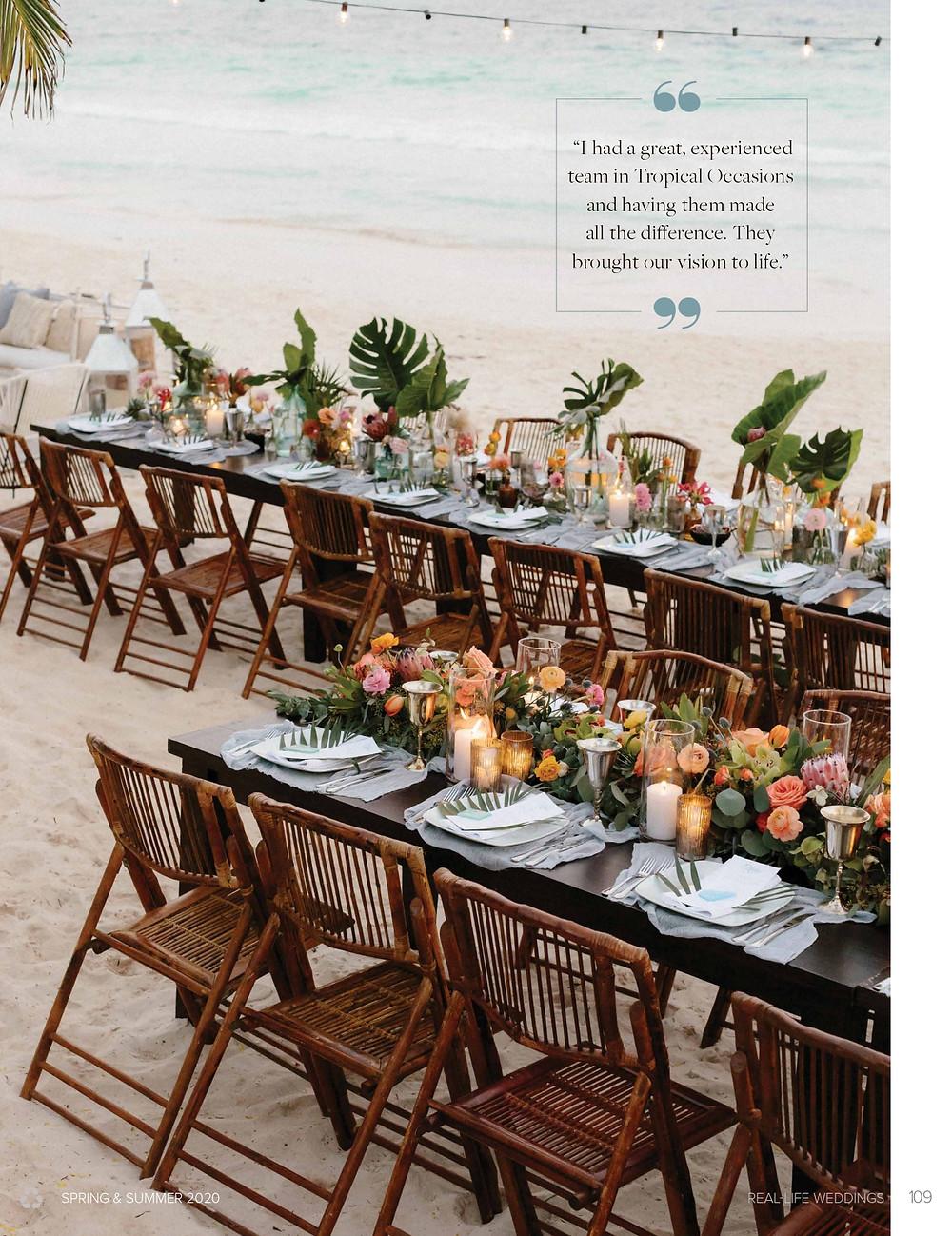 Wedding Table at Zorba & Mahayana Tulum Beach Homes.