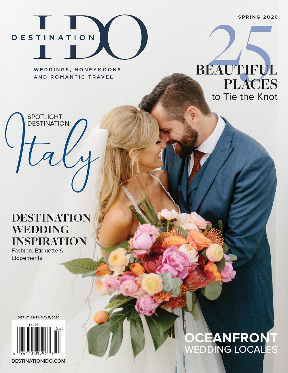 Destination I Do Magazine Cover with our couple Brittany and Ryan.