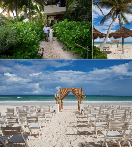 Private Wedding in our tucked away beachfront location
