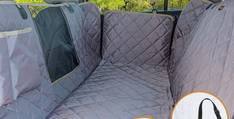 iBuudy Waterproof Dog Seat Cover with Mesh Window for Cars, Small Trucks and SUV