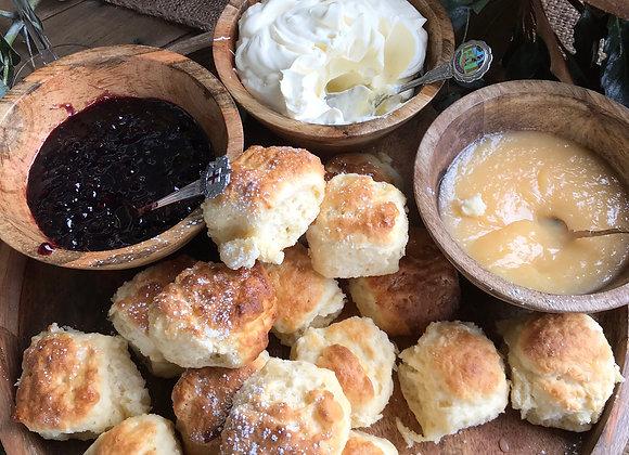 Devonshire Scones (4 scones, jam, cream & pepe saya butter)