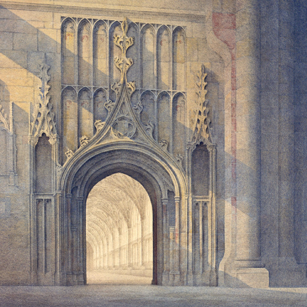 Door to the Cloisters, Gloucester 63x80c
