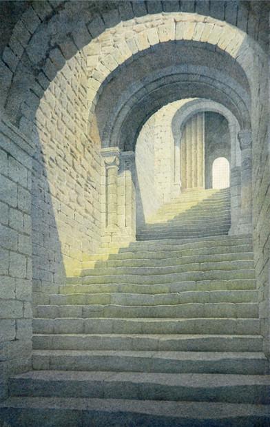 Castle Rising steps