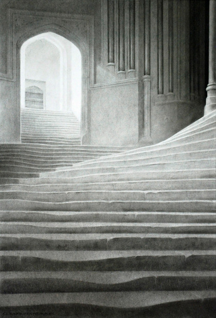 steps to the Chapter House, Wells