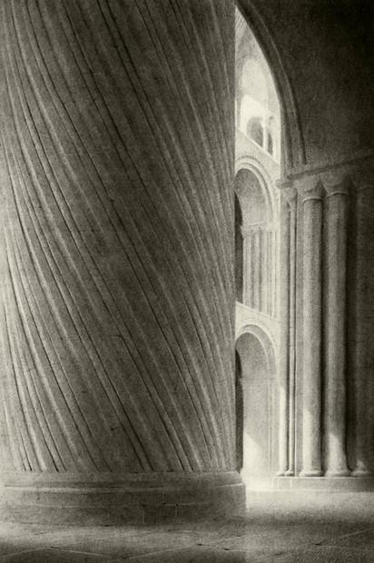 Spiral column Norwich Cathedral