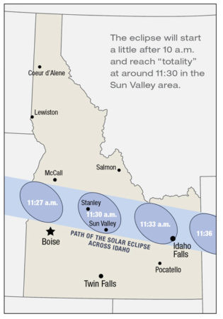 Sun Valley 2017 Solar Eclipse