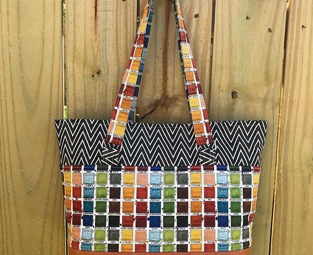 Paint palette shoulder bags with rust vi