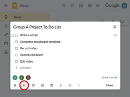 Keep notes on students using Google Keep or Evernote
