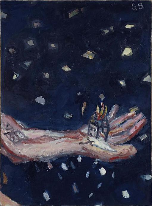 Georg Baselitz, Die Hand - Das brennende Haus, 1964/65 courtesy The Artist