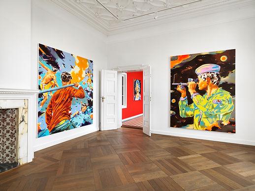 Ausstellungsansicht Norbert Bisky, 2019
