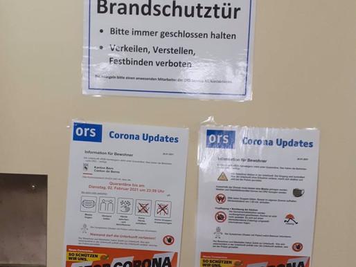 Quarantäne  im RZB Aarwangen: Brief-Päckli-Aktion
