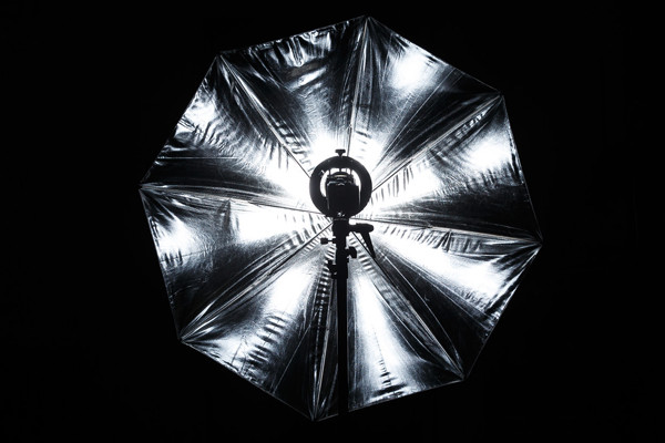illumination parapluie silver