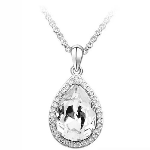 Touch of Glam Necklace  -Clear