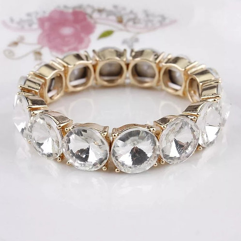 Ice Bubble Bracelet (White and Gold)