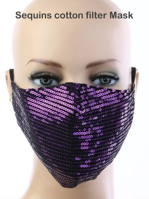 Purple Sequin Mask