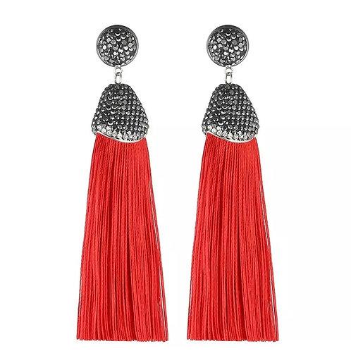 Kamora Earrings (Red)
