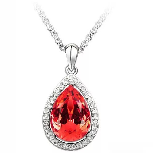 Touch of Glam Necklace  -Red