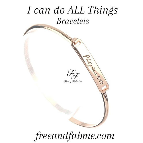I Can Do All Things Bracelet (Gold)