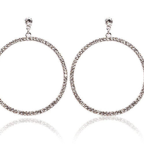 Ring of Diamonds  Earrings