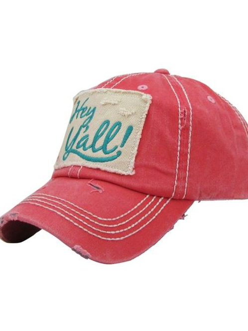 Hey Y'all Hat (Pink)