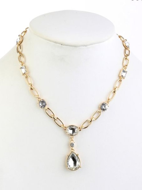 Drip Drop Diamond Necklace