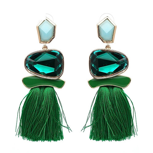 Yazmine Earrings (Emerald)