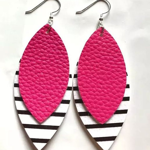 Straight To The Point Earring (Pink)